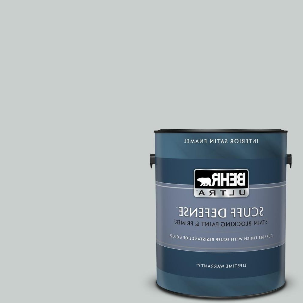 Behr Ultra 1 Gal. #720E 2 Light French Gray Extra Durable Satin Enamel Interior Paint & Primer 10+ Behr Light French Gray Living Room Inspirations