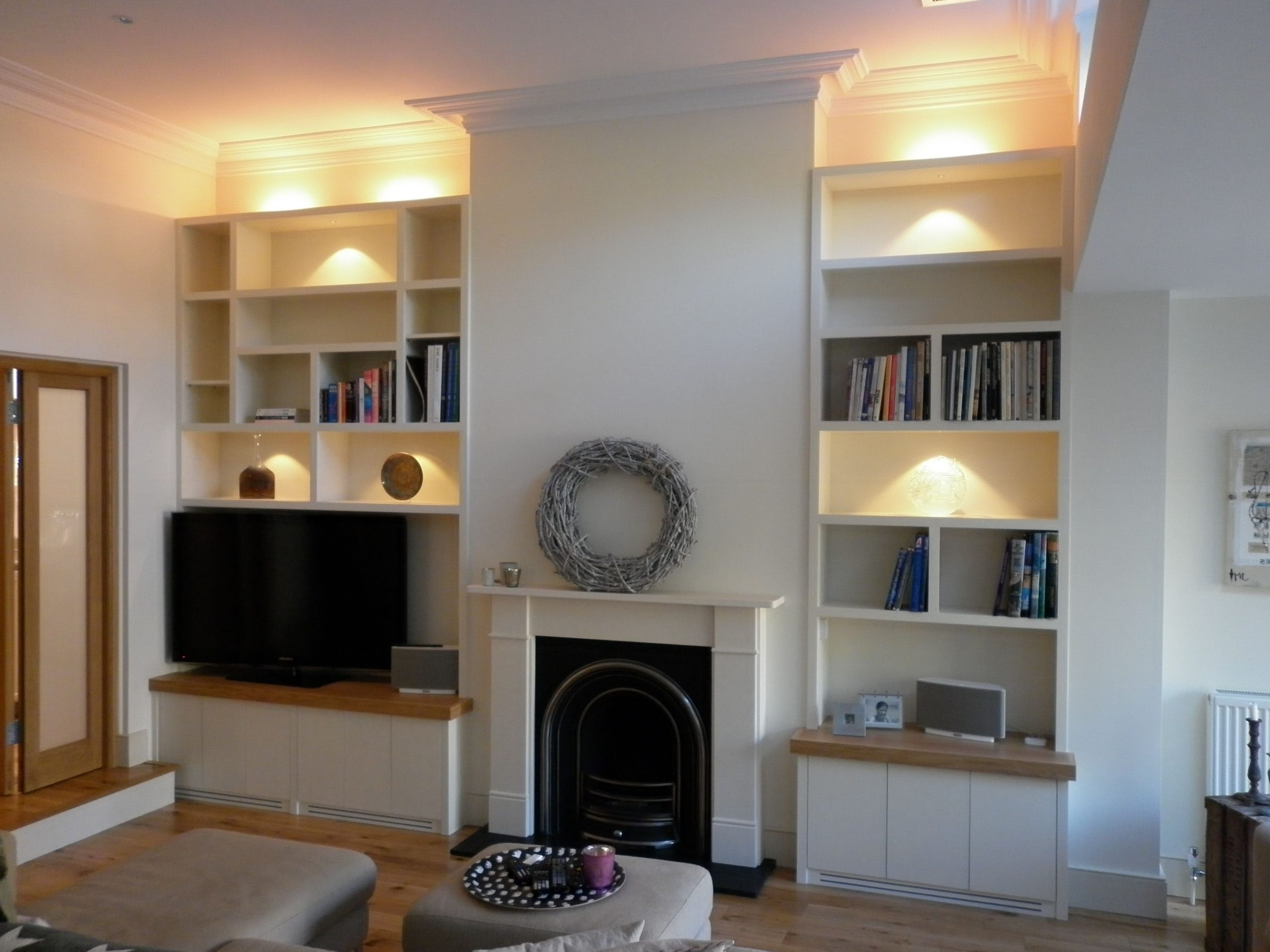 Bespoke Alcove Shelves & Cupboards, Each Side Of A 40+ Alcove Storage Living Room Inspirations
