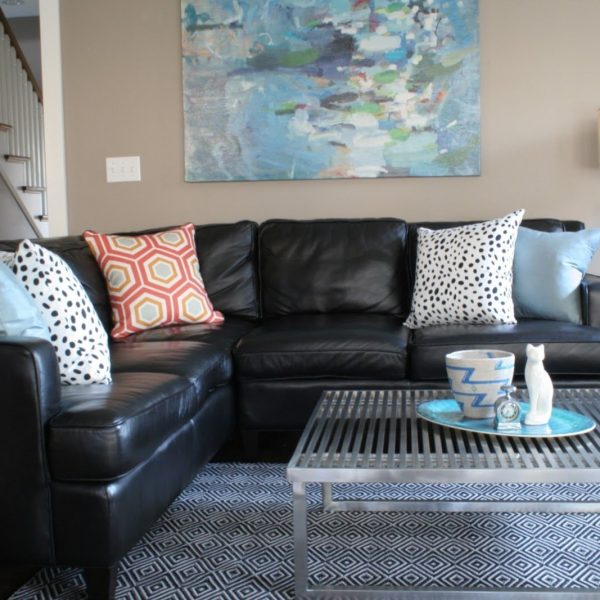 Black And White Pillows   Black Couch Living Room, Black 30+ Living Room Decorating Black Leather Couch Inspirations