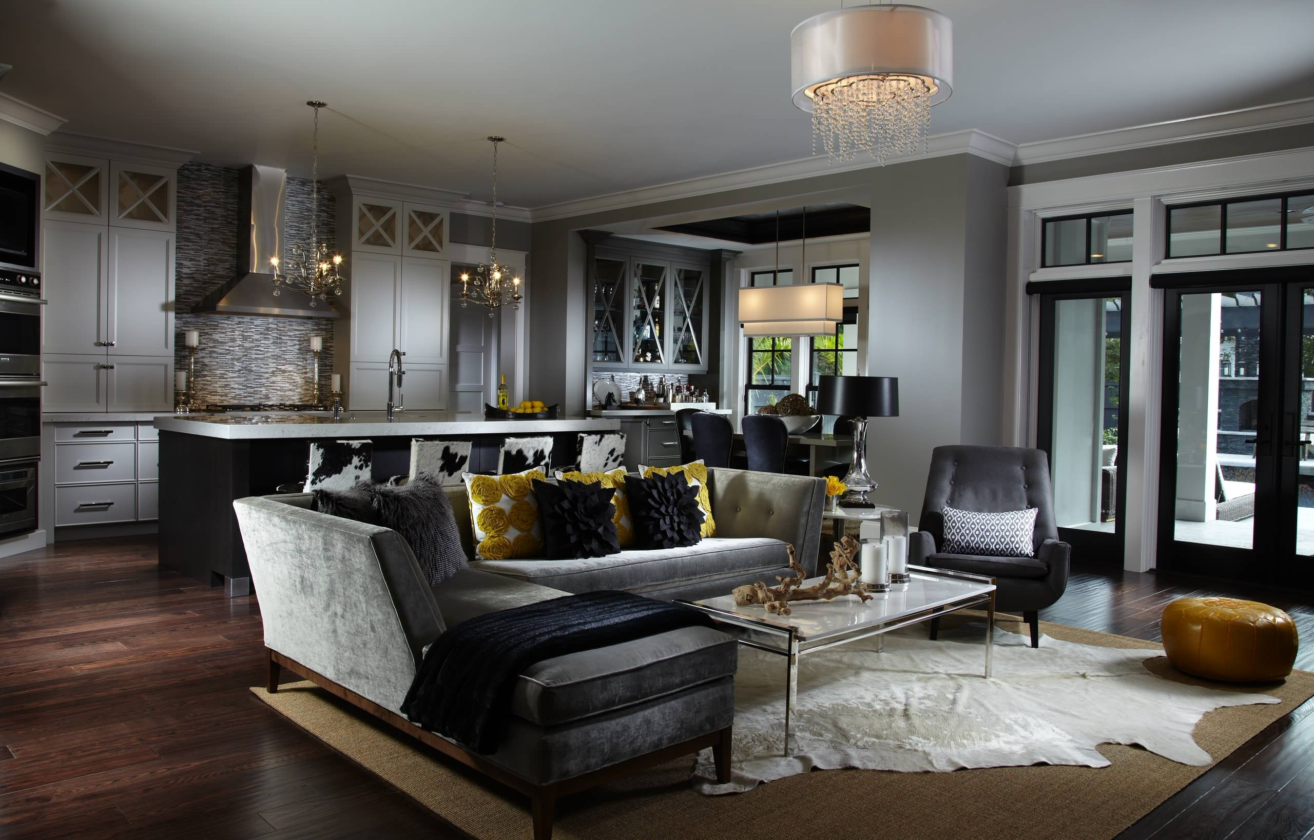 Black Leather Sofa Ideas | Houzz Living Room Decorating Black Leather Couch