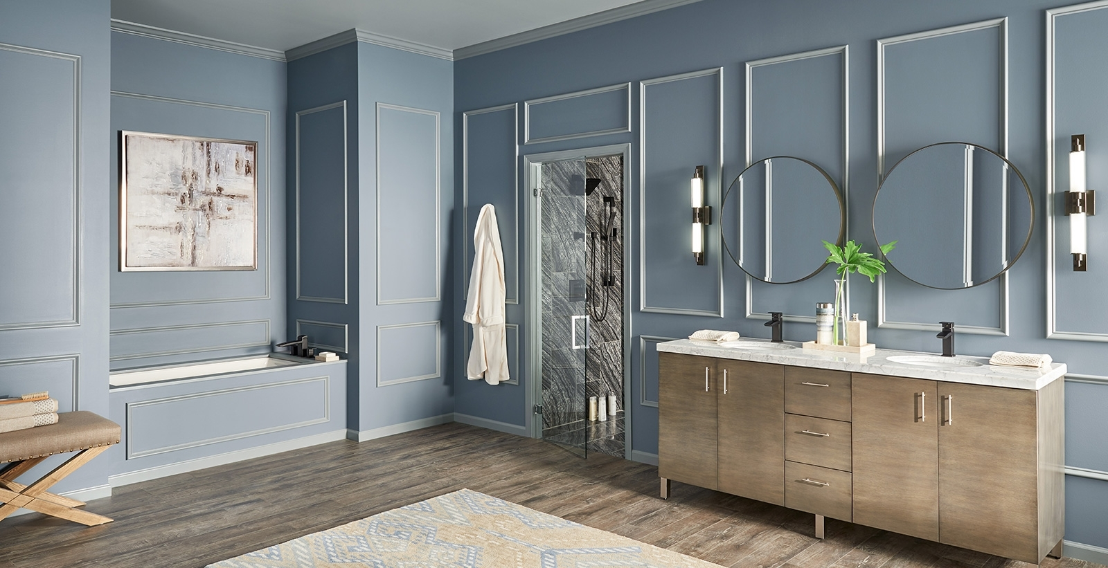 Blue Bathroom Ideas And Inspiration | Behr Bathroom Paint Color Behr