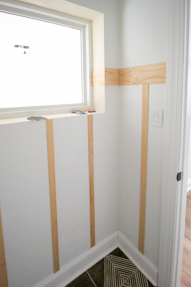 Board And Batten In The Bathroom   The Diy Playbook Board And Batten In Small Bathroom