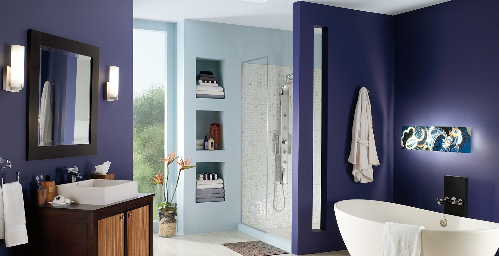 Bold And Dramatic Bathroom Ideas And Inspiration | Behr 10+ Bathroom Paint Color Behr Ideas