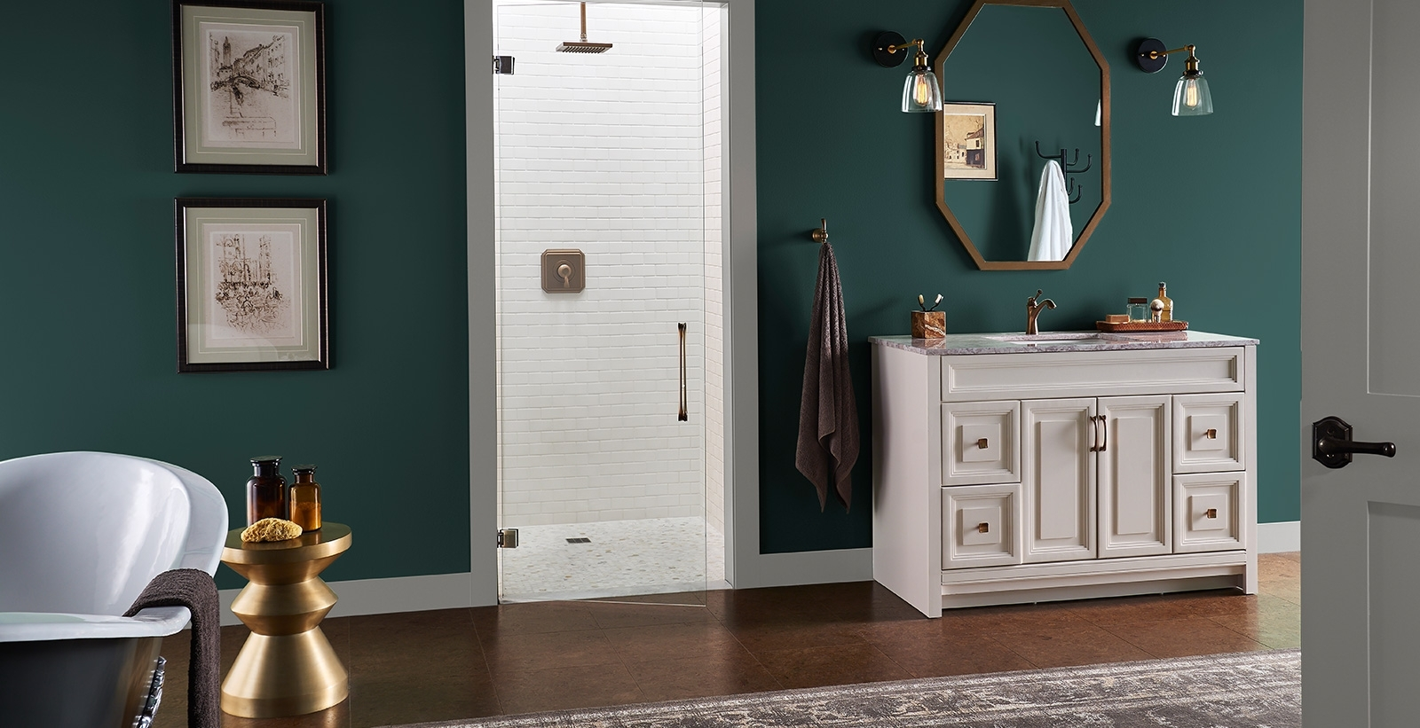 Bold And Dramatic Bathroom Ideas And Inspiration | Behr 40+ Behr Bathroom Color Inspirations