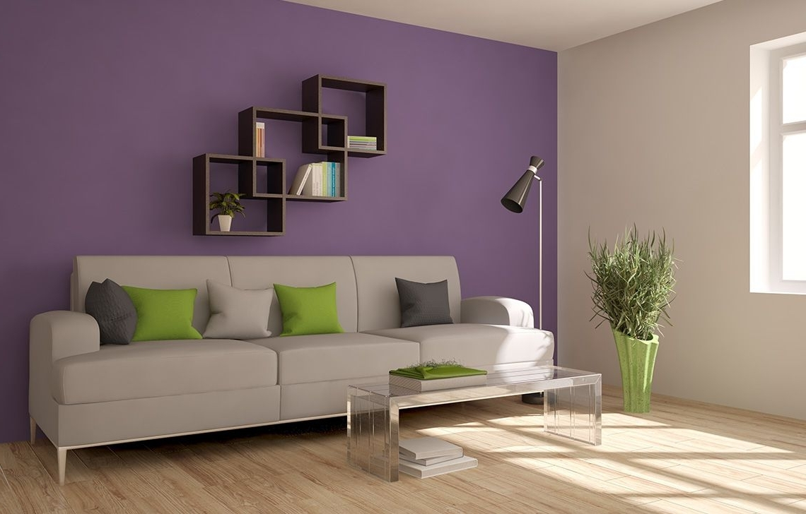 Bring Your Walls To Life With A Striking Purple Asian Paints Colour Combination Living Room