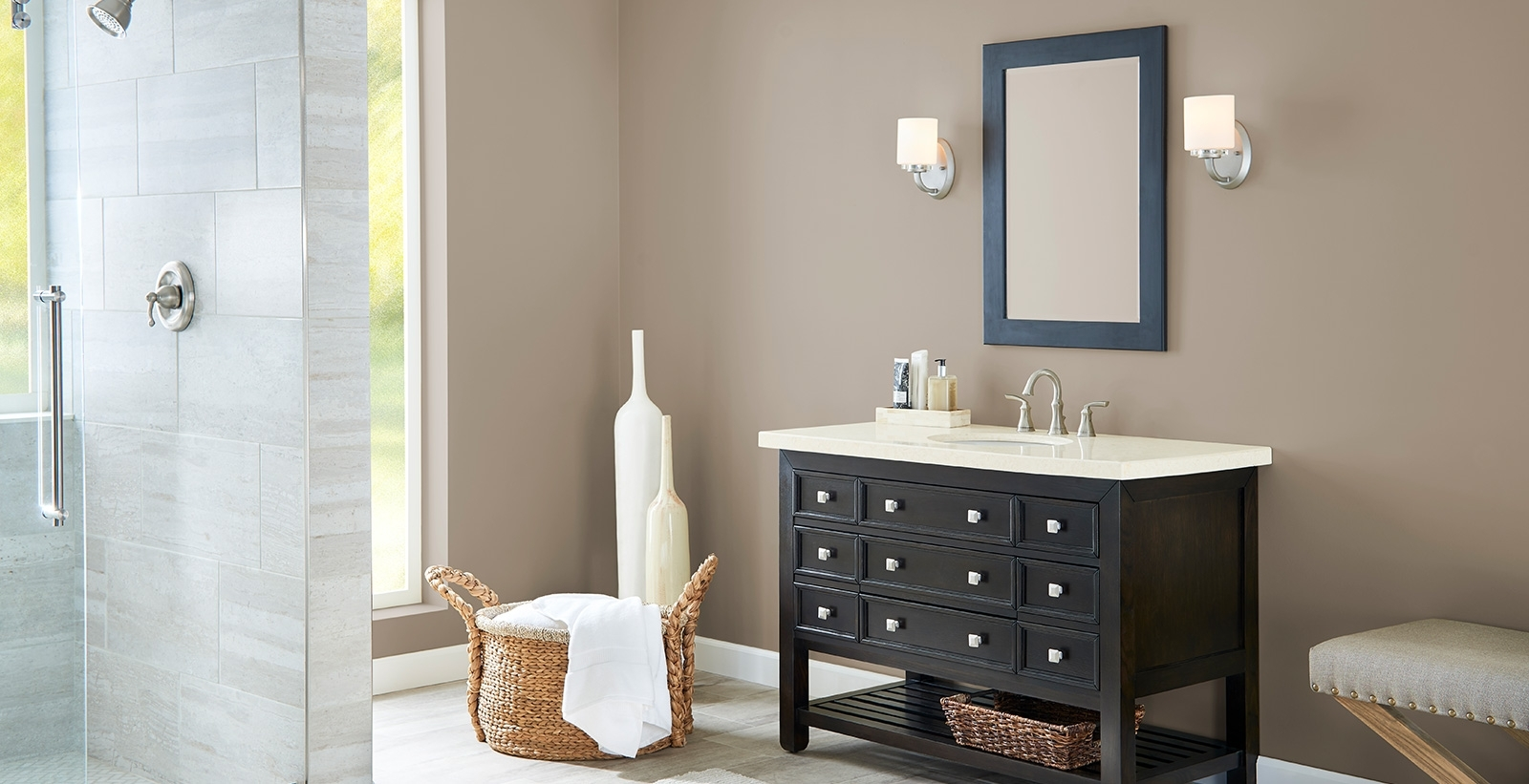 Brown Bathroom Ideas And Inspiration | Behr Bathroom Paint Color Behr