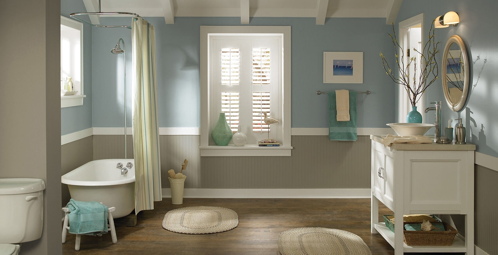 Casual Bathroom Ideas And Inspirational Paint Colors | Behr 40+ Behr Bathroom Color Inspirations