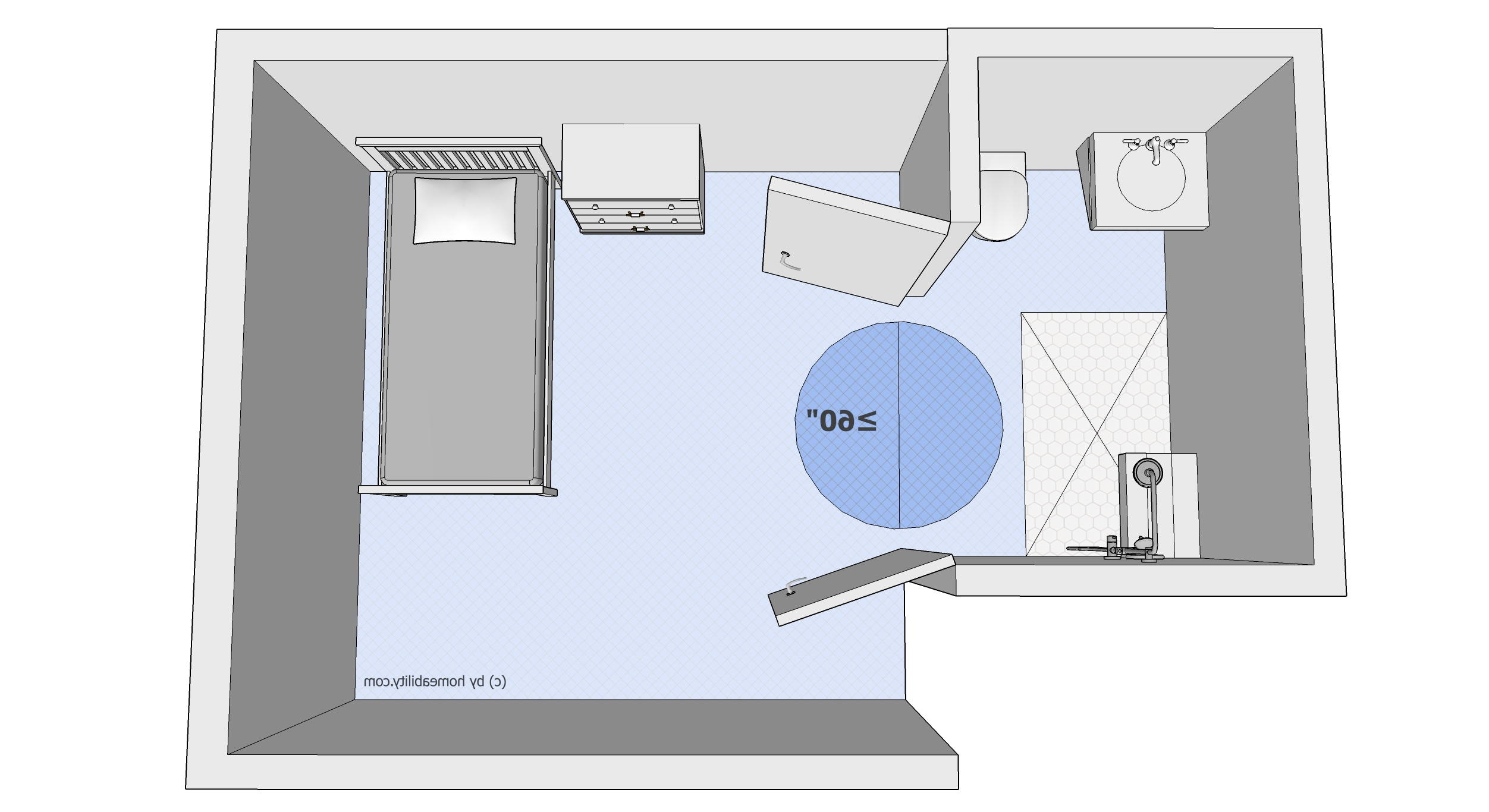 """Clear Floor Space"""" Guidelines For Accessible Bathrooms Ada Bathroom Design Guidelines"""