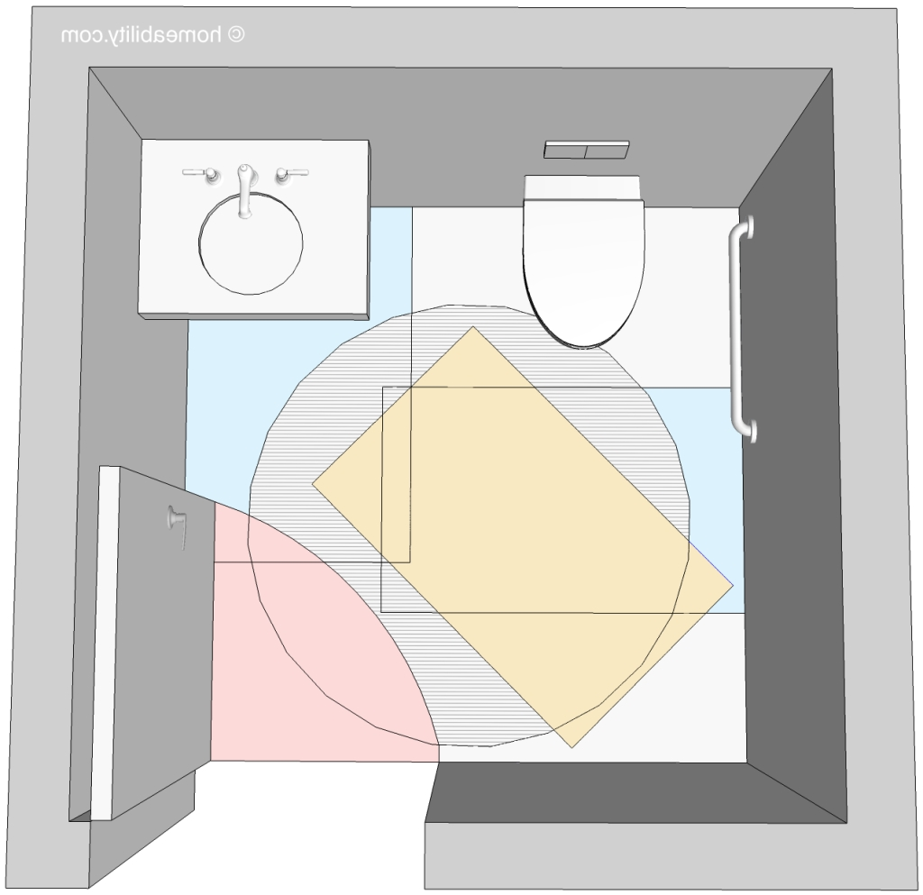 """Clear Floor Space"""" Guidelines For Accessible Bathrooms Universal Bathroom Design Guidelines"""