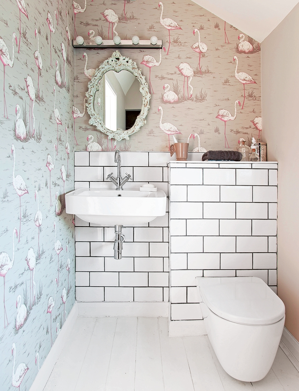 Cloakroom Ideas For Small Spaces – Downstairs Toilet Ideas Downstairs Bathroom Wallpaper