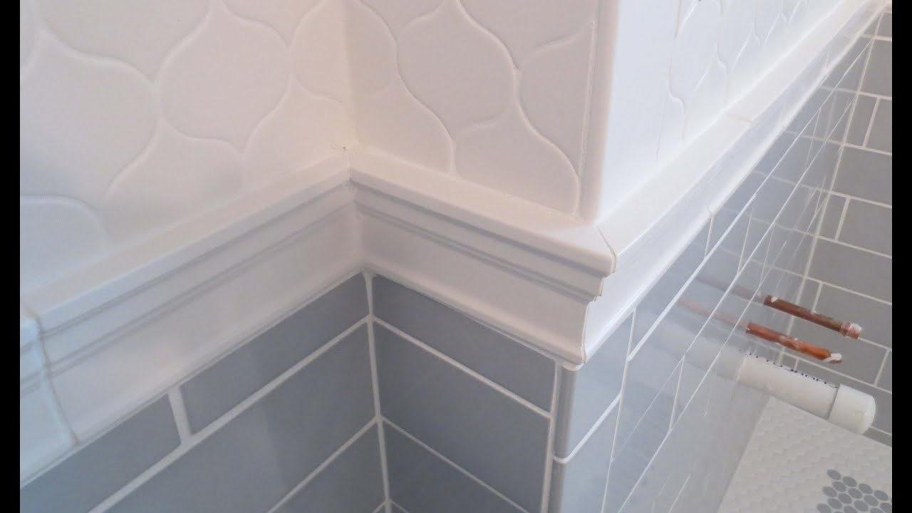 Complete Bathroom Schluter Systems Products, Part 5 Installing Cornice Molding Or Chair Rail Bathroom Coving