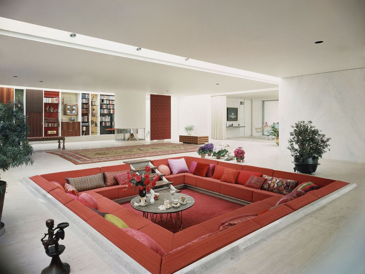 Conversation Pits Make A Comeback Curbed Sunken Living Room