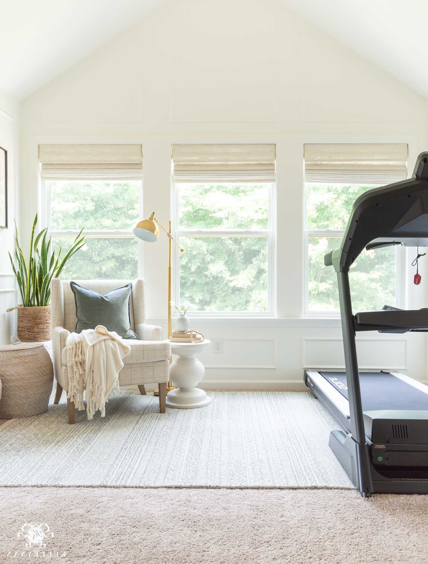 Coordinating The Master Bedroom Sitting Area To The Bedroom Decorate Living Room With Treadmill