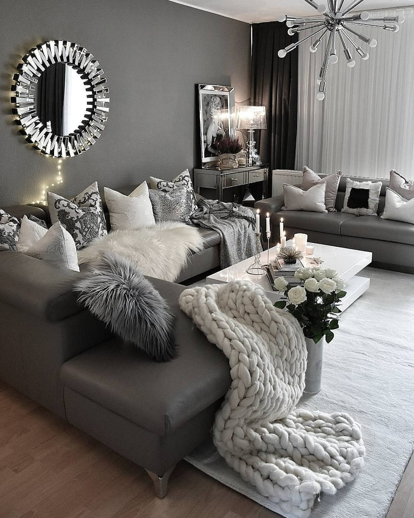 Cosy Living Room Decor Ideas | Popsugar Home Australia 30+ Monochrome Living Room Decorating Inspirations