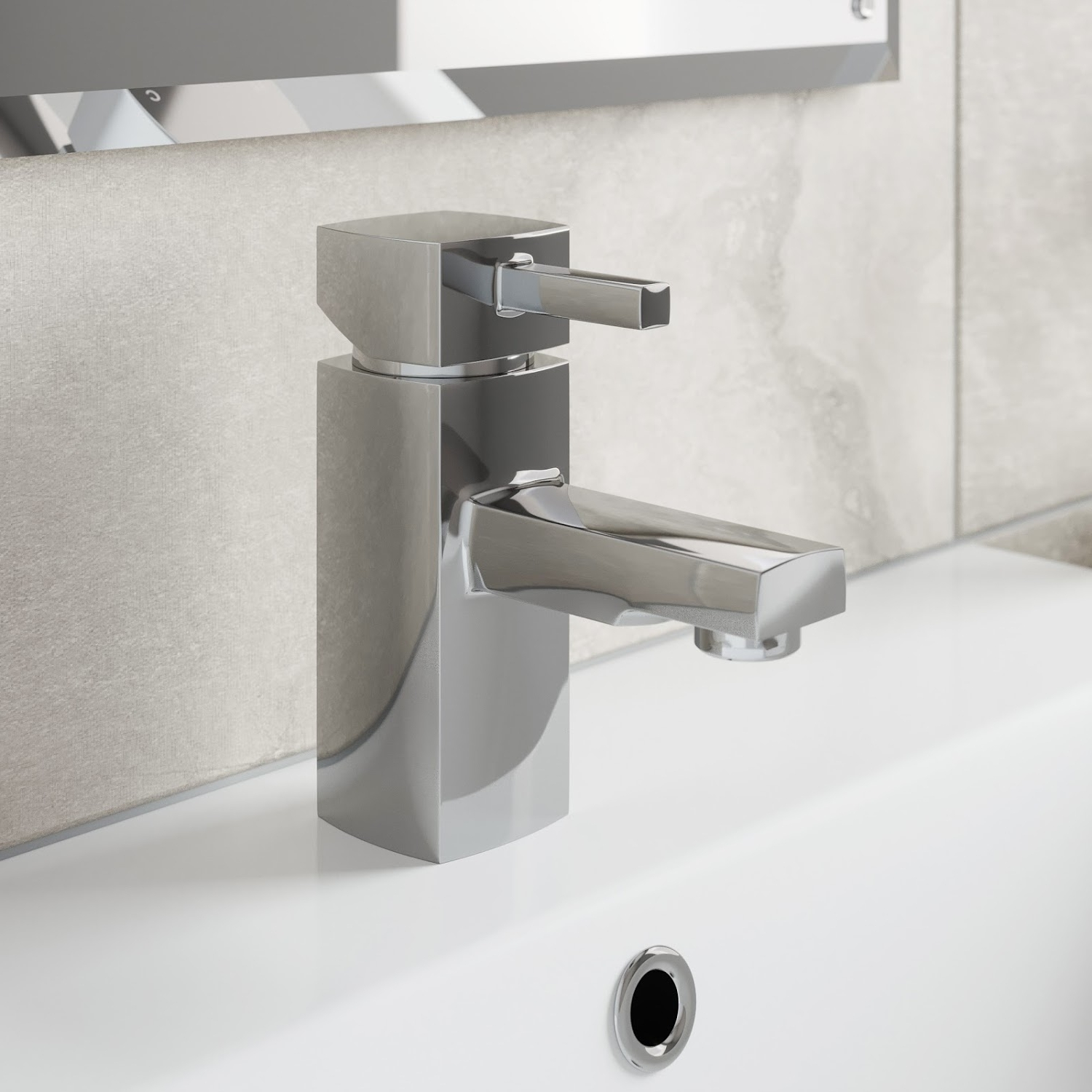 Details About Modern Bathroom Mono Basin Sink Mixer Tap Square Chrome Lever Handle Cloakroom 10+ Cloakroom Bathroom Inspirations