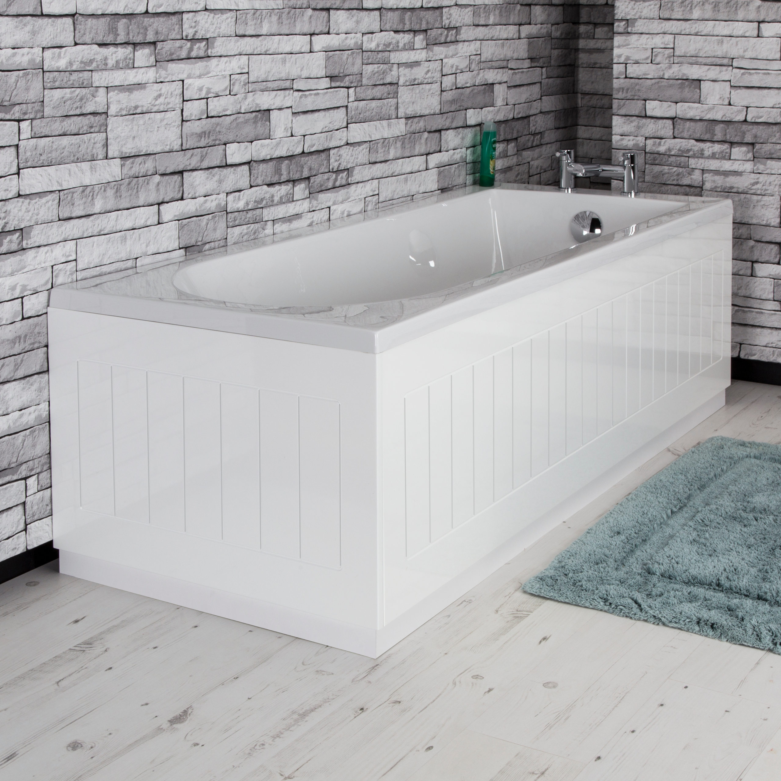 Details About Modern Tongue & Groove White Mdf Front Bath Side Panel 1700Mm Adjustable Plinth 40+ Tongue Groove Bathroom Inspirations