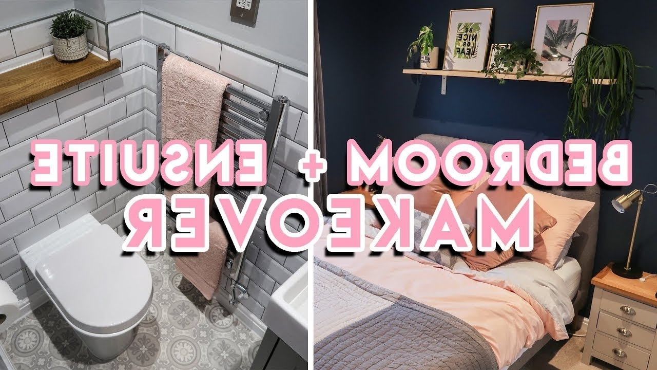 Diy Bedroom Makeover + En Suite Bathroom Renovation 2019 | Dark Blue, Gold + Pink Ensuite Bathroom 2019