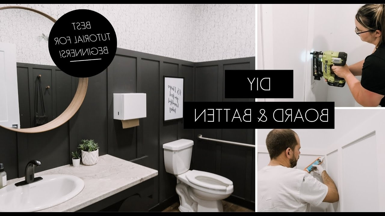 Diy Board And Batten   How To Measure Spacing, Choose Trim, & Install Board And Batten! Board And Batten In Small Bathroom