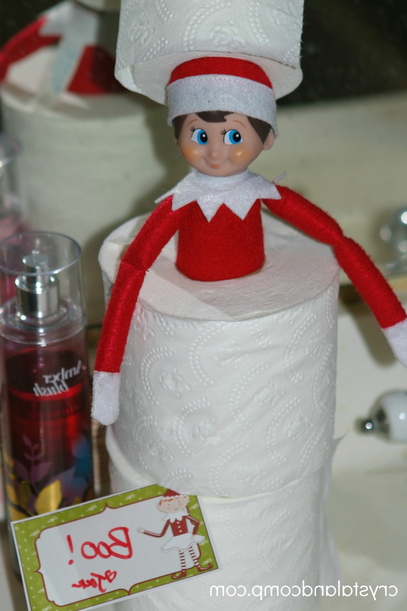 Elf On The Shelf Toilet Paper Idea 40+ Elf Bathroom Ideas
