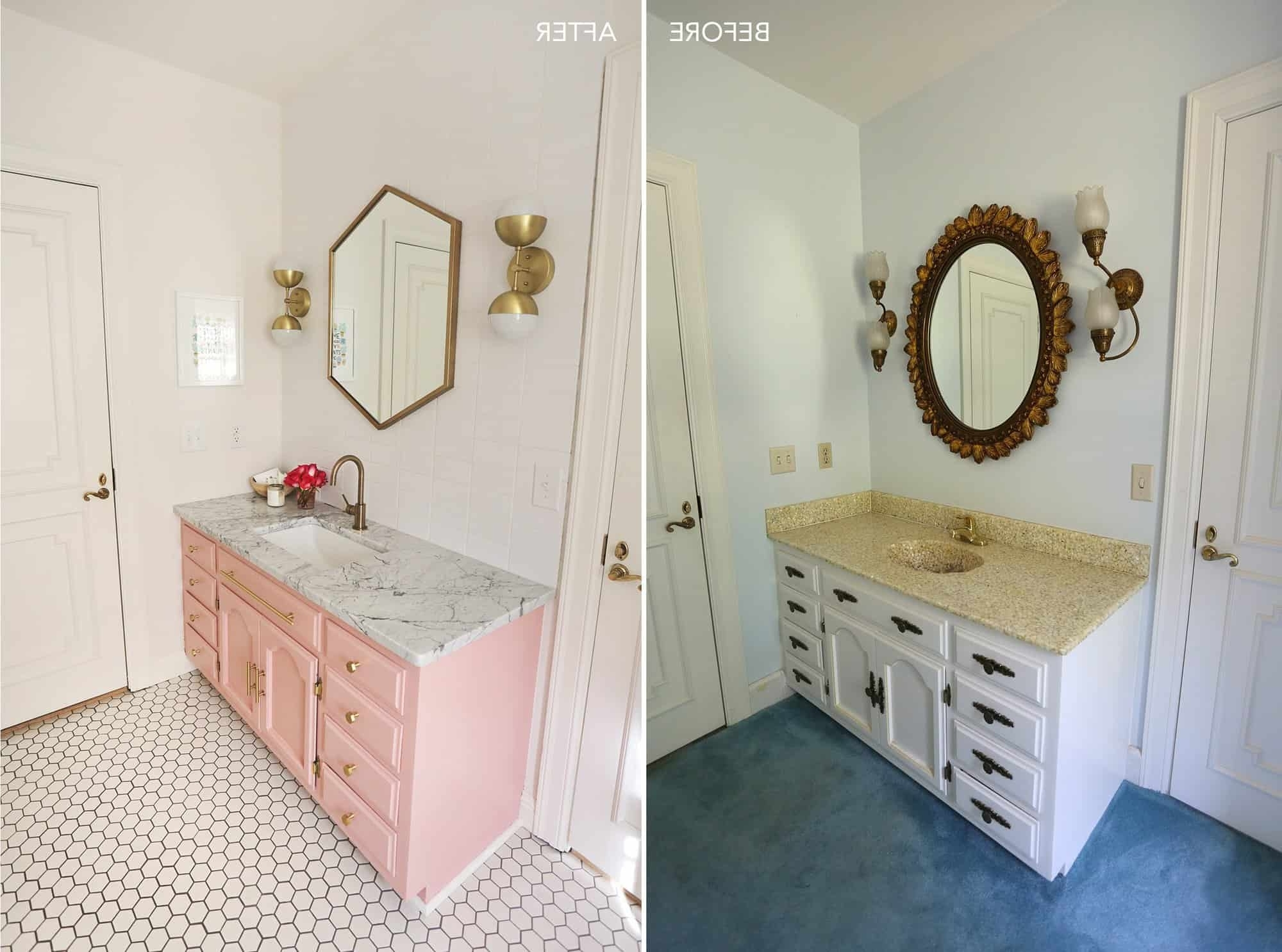 Elsie'S Guest Bathroom Tour (Before + After) A Beautiful Mess 20+ Cute Jack And Jill Bathroom Inspirations