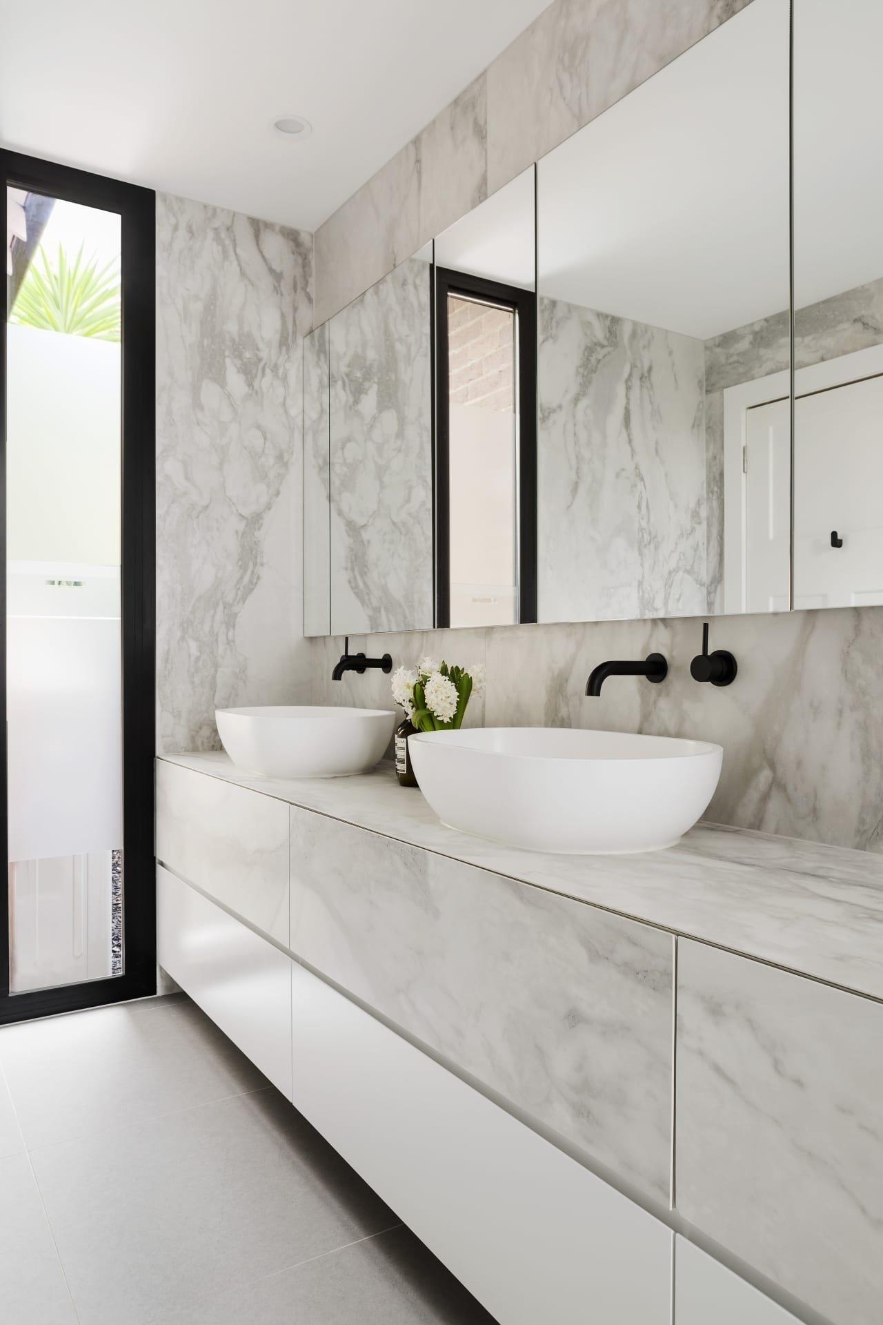 Ensuite Renovation Has Spacious Feel Despite Its… | Trends Narrow Ensuite Bathroom