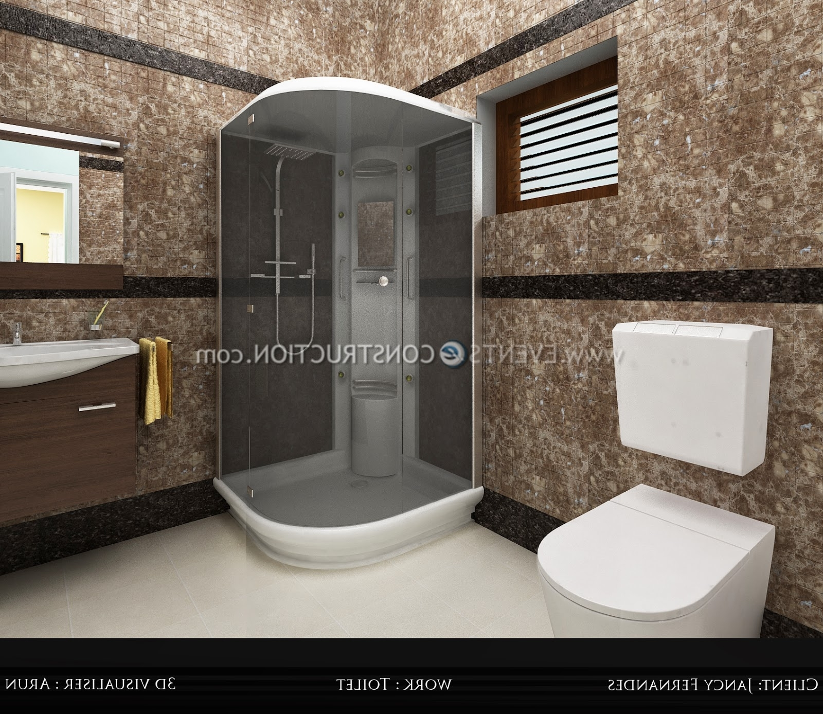 Evens Construction Pvt Ltd: Bathroom Designed For Kerala Home Kerala House Bathroom Designs