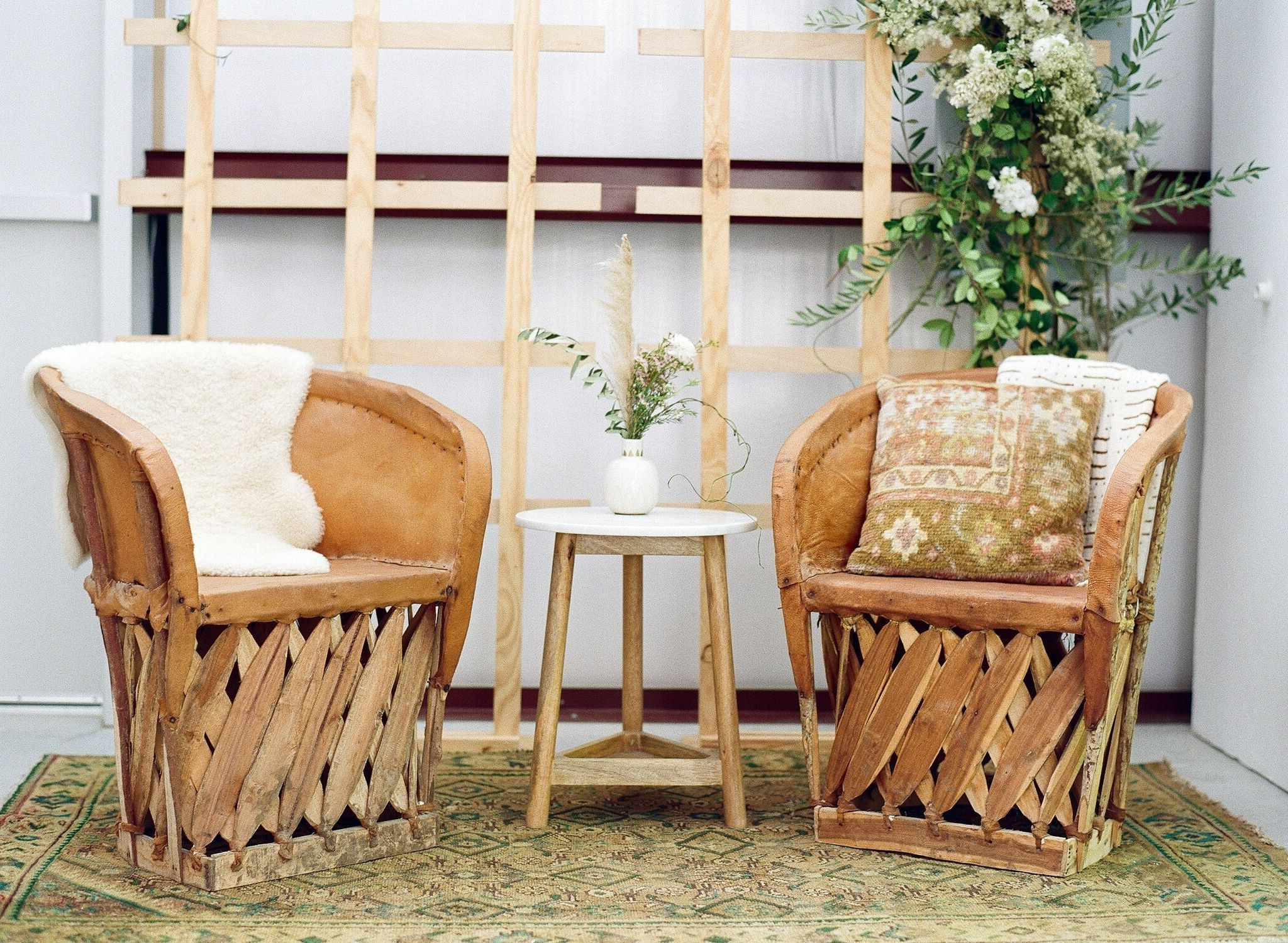 Event Lounge With Two Mexican Equipale Chairs And Sheepskin 20+ Birch Event Design Bathroom Ideas