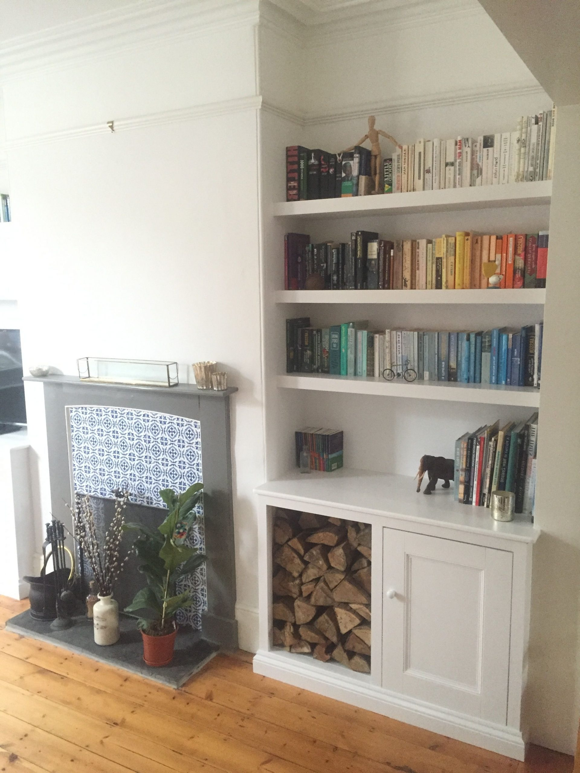 Exeter Alcove Unit With Removable Doors. Great For Log 40+ Alcove Storage Living Room Inspirations