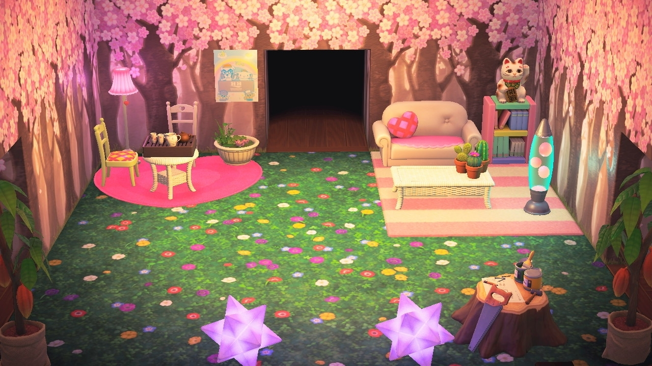 & Finally My Living Room (: She Extra On We Heart It Acnl Living Room