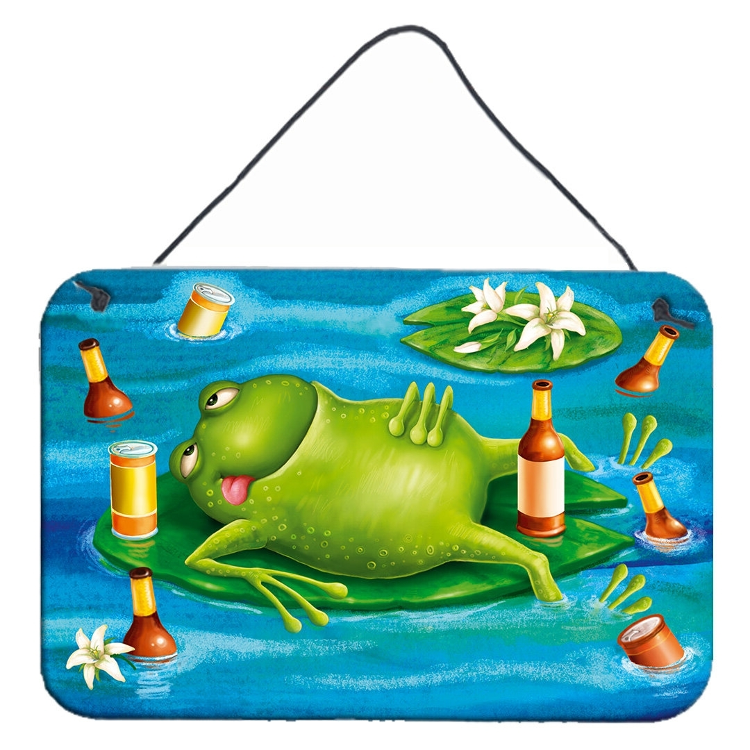 Frog Drinking Beer Hanging Prints Wall Décor 40+ Frog Bathroom Decorating Inspirations