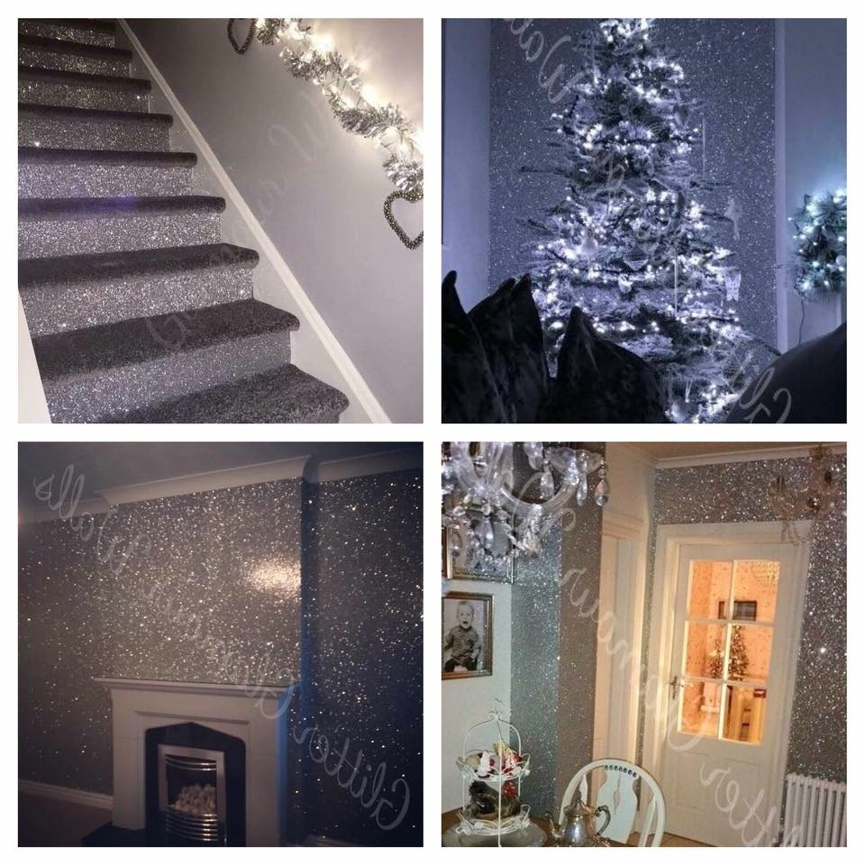 Glamorise Your Room With Glitter Wallpaper | Glitter Wallpaper Glitter Wallpaper Living Room
