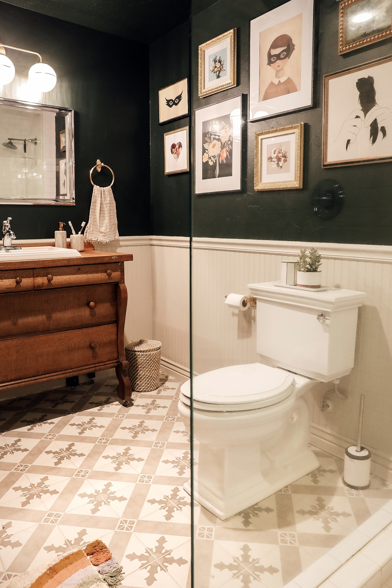 Going Dark In A Windowless Bathroom Paid Off! Chris Loves Windowless Bathroom Paint