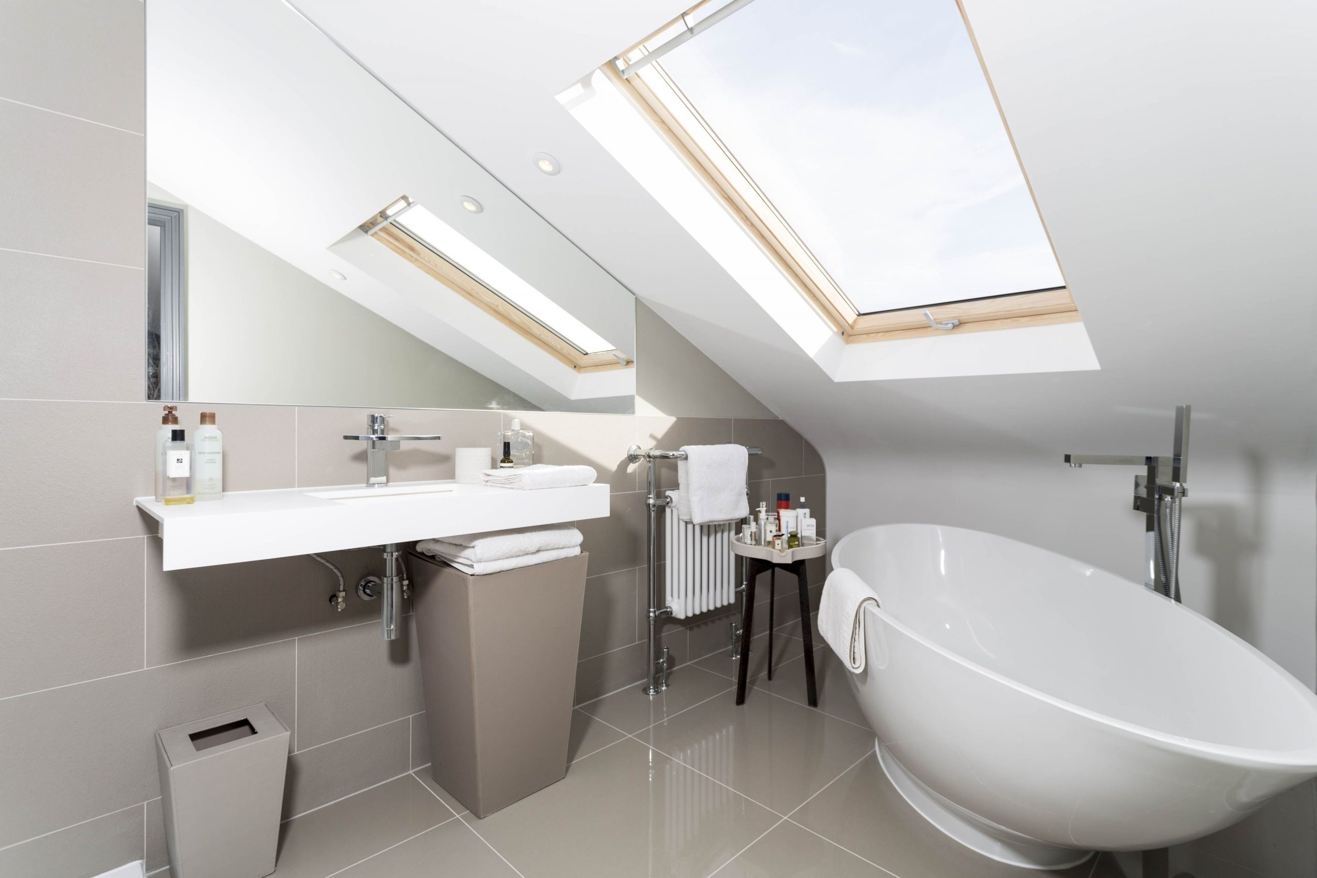 Grey Tiled Loft Conversion Bathroom With Beautiful Free 40+ Small Bathroom Loft Conversion Ideas