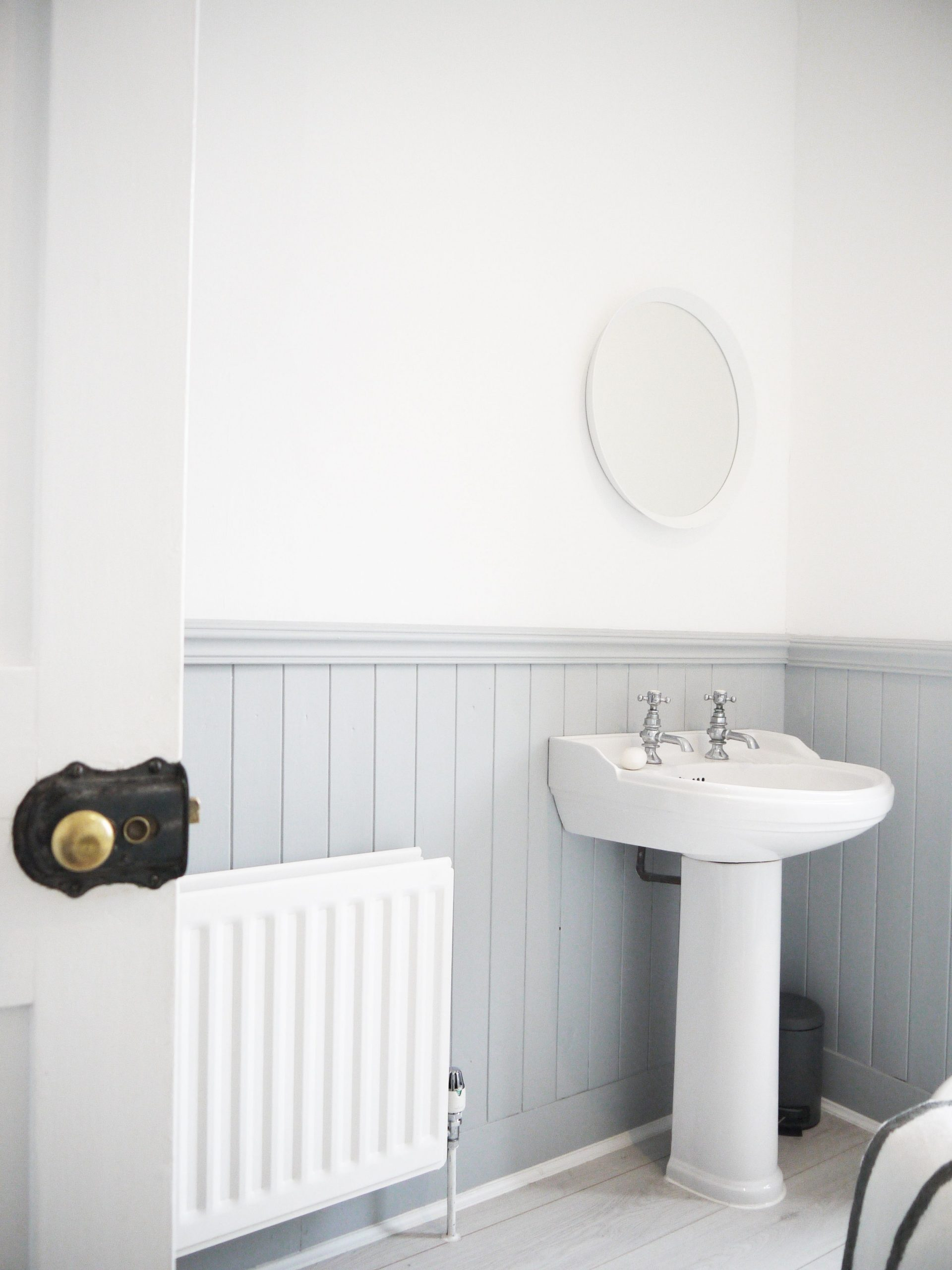 Grey Tongue And Groove Bathroom | Downstairs Toilet, Small Tongue Groove Bathroom