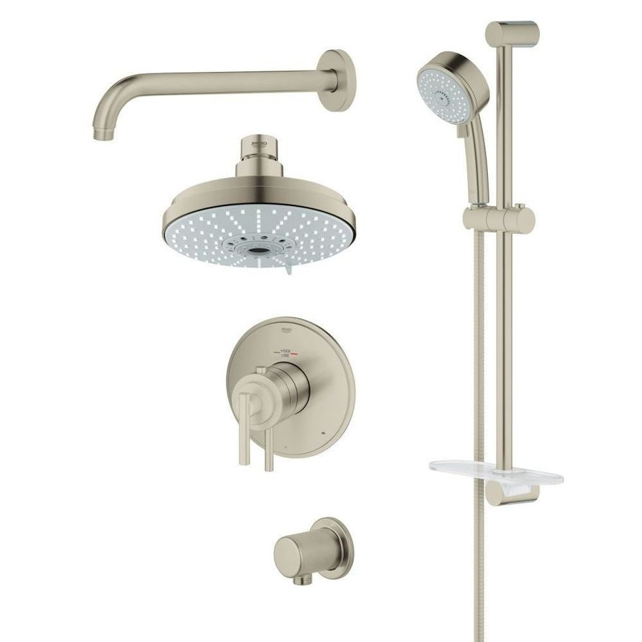Grohe Grohflex Brushed Nickel 4 Spray Rain Shower Head And 20+ Bathroom Design Set All Inclusive Grohe Ideas