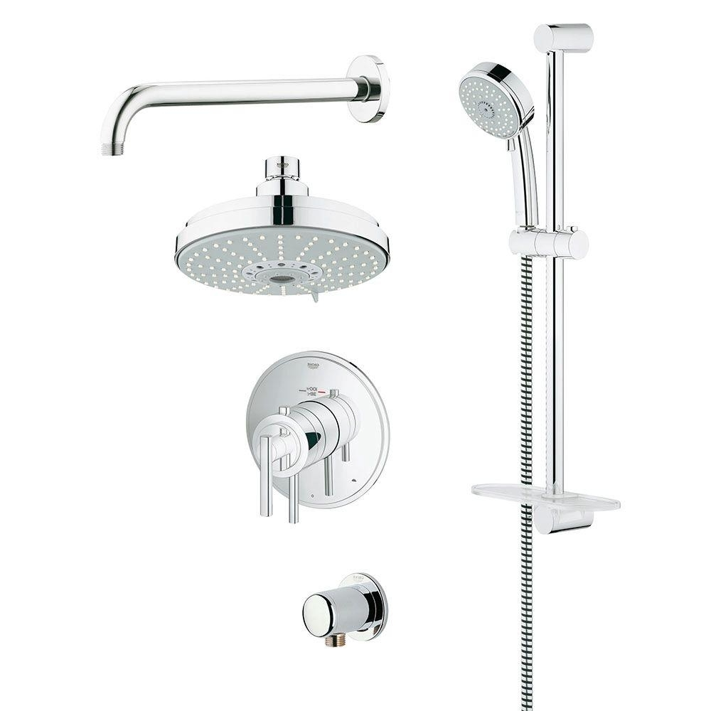 Grohe Grohflex Timeless 4 Spray Handheld Shower And Shower 20+ Bathroom Design Set All Inclusive Grohe Ideas