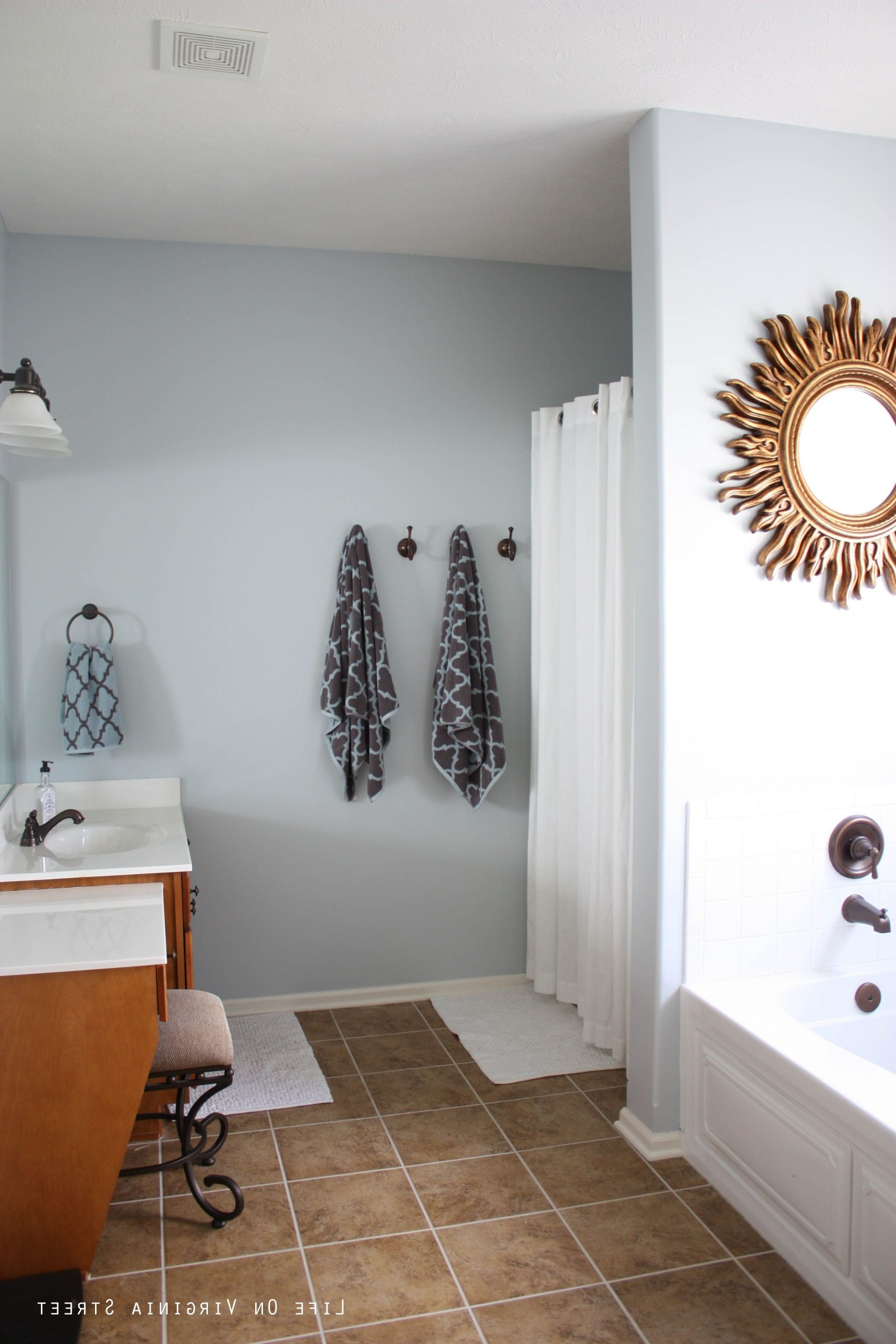 Home #2 Tour | Life On Virginia Street | Bathroom Color Behr Light French Gray Living Room