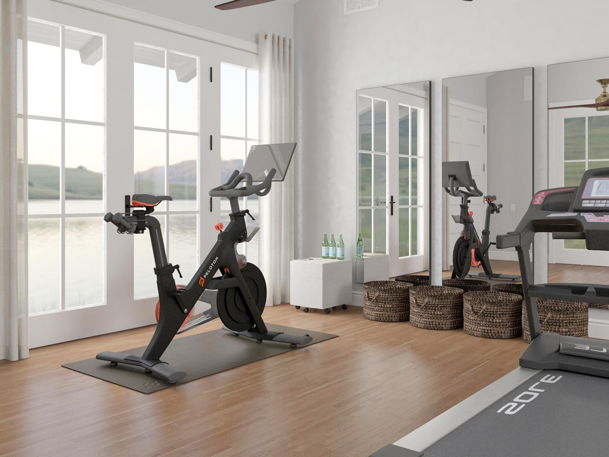 Home Gym Ideas: How To Sweat It Out At Home, In Style Decorate Living Room With Treadmill