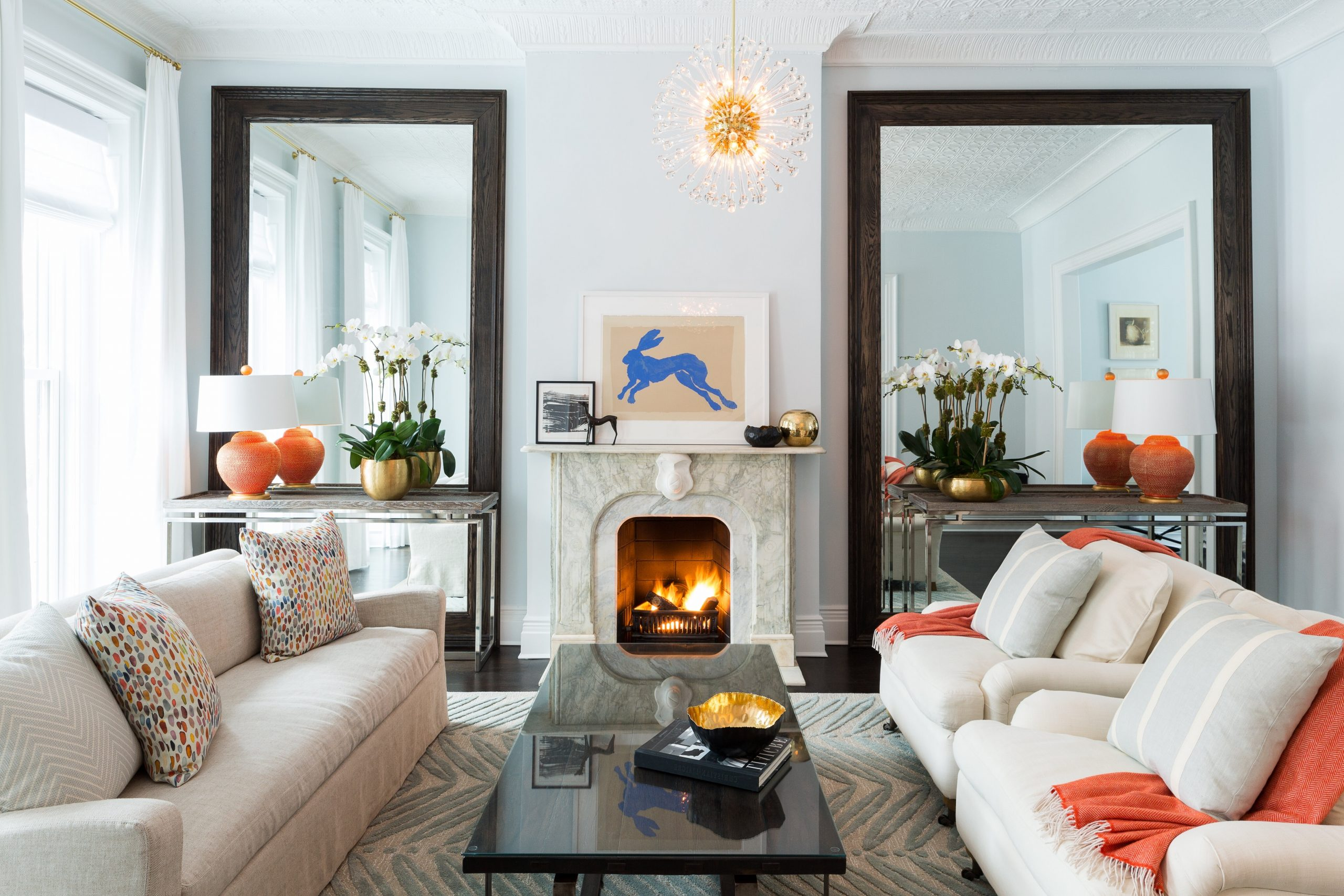 House Tour: A Polished Brooklyn Brownstone | Wayfair Brownstone Living Room Decorating