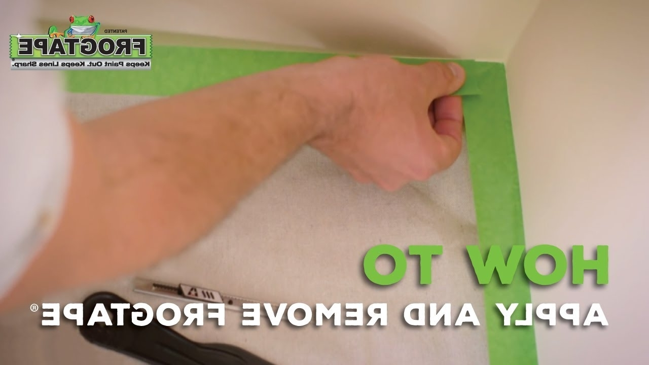 How To Apply And Remove Frogtape® Frog Tape Bathroom