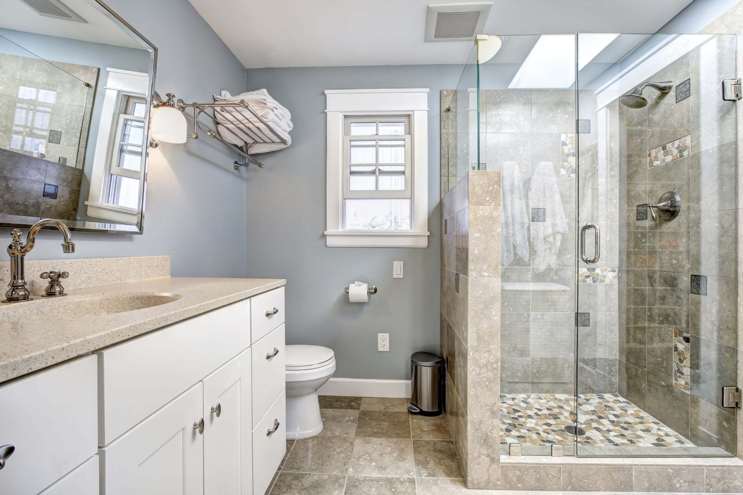 How To Clean A Pebble Shower Floor | Builddirect Learning 10+ Bathroom Pebble Tile Inspirations