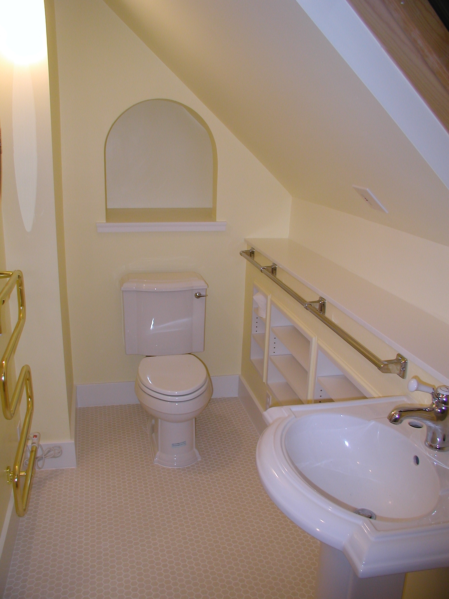 How To Deal With Awkward Bathroom Layouts | Rose 20+ Small Bathroom With Sloped Ceiling Ideas