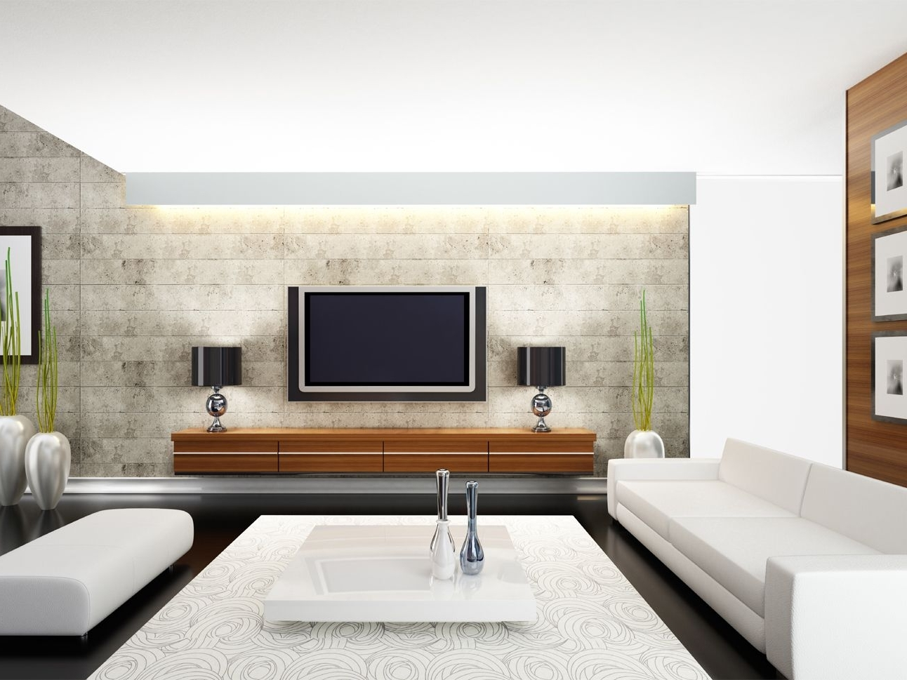 How To Decorate Around A Tv Decorating Living Room With Flat Screen Tv