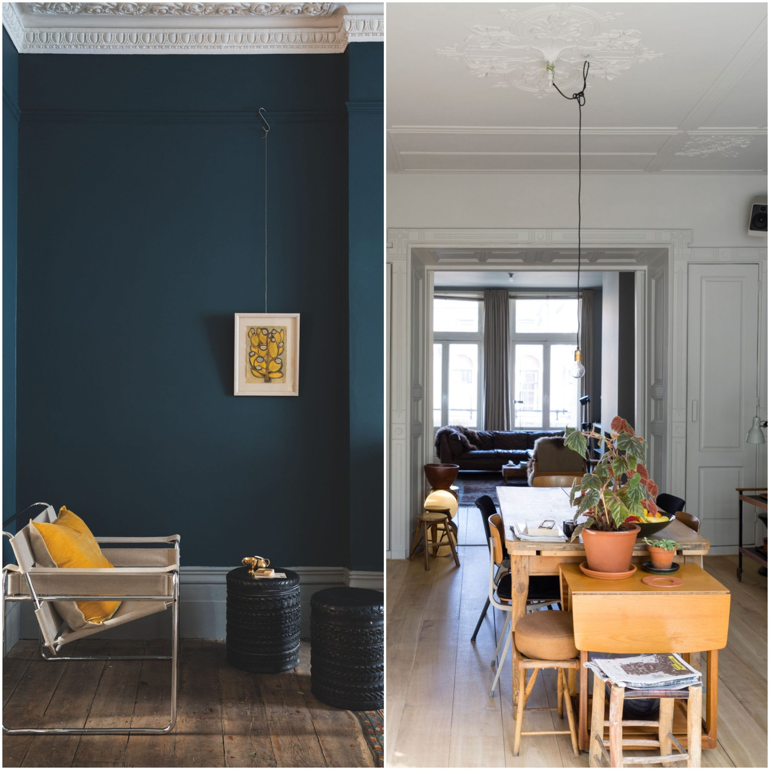 How To Decorate With Farrow And Ball Ammonite & Hague Blue Light Blue Farrow And Ball Living Room