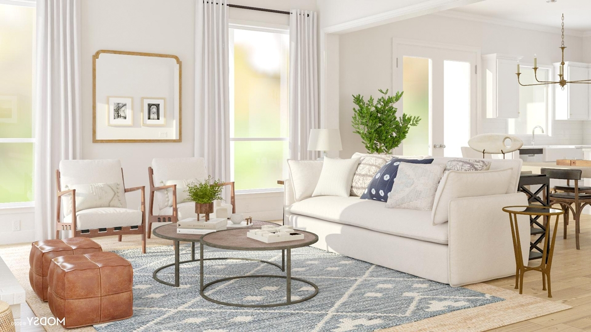 How To Design An Open Living Dining Room | Modsy Blog L Shaped Living Room Dining Room Decorating