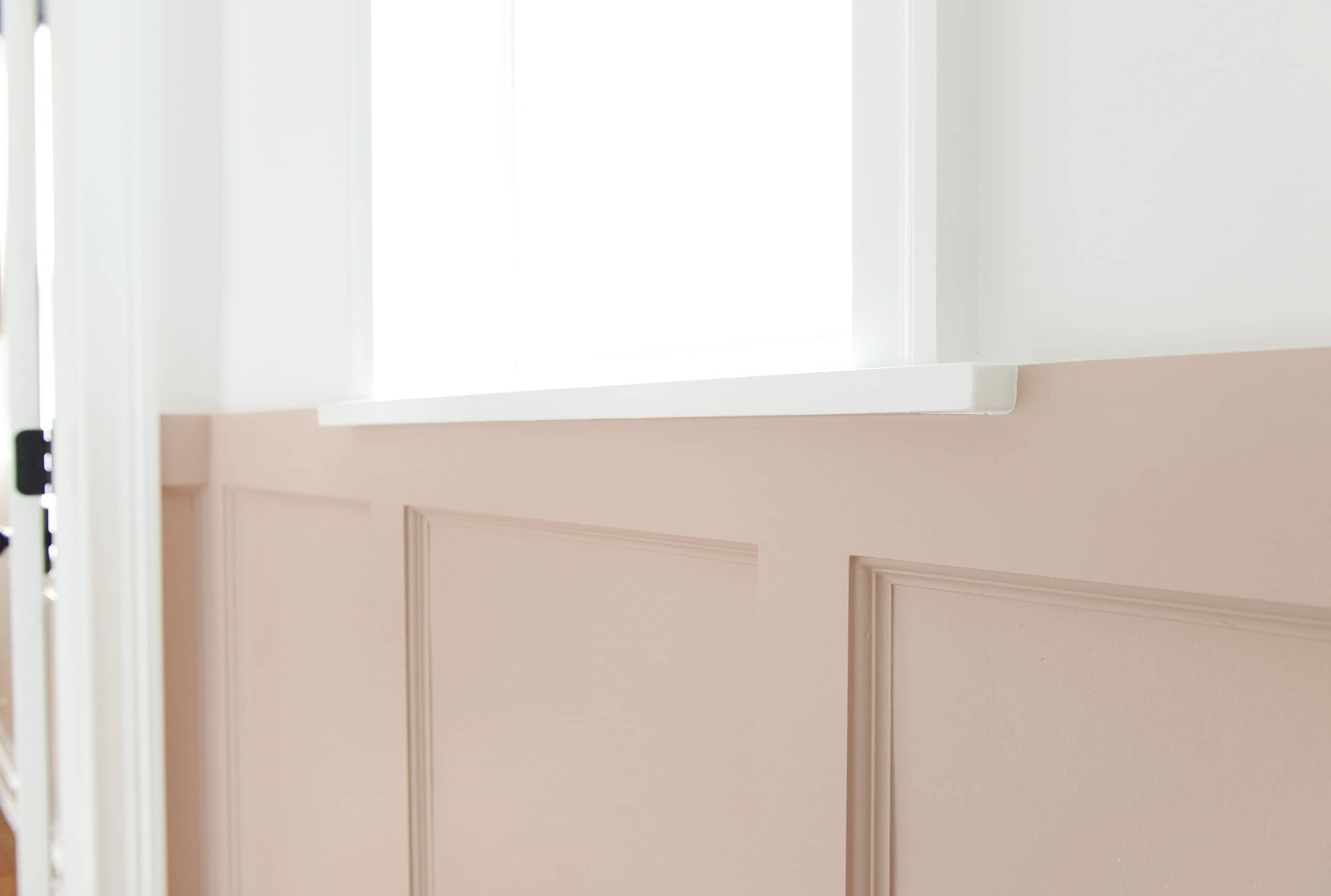 How To Diy (Pink!) Board And Batten Yellow Brick Home Board And Batten Small Bathroom