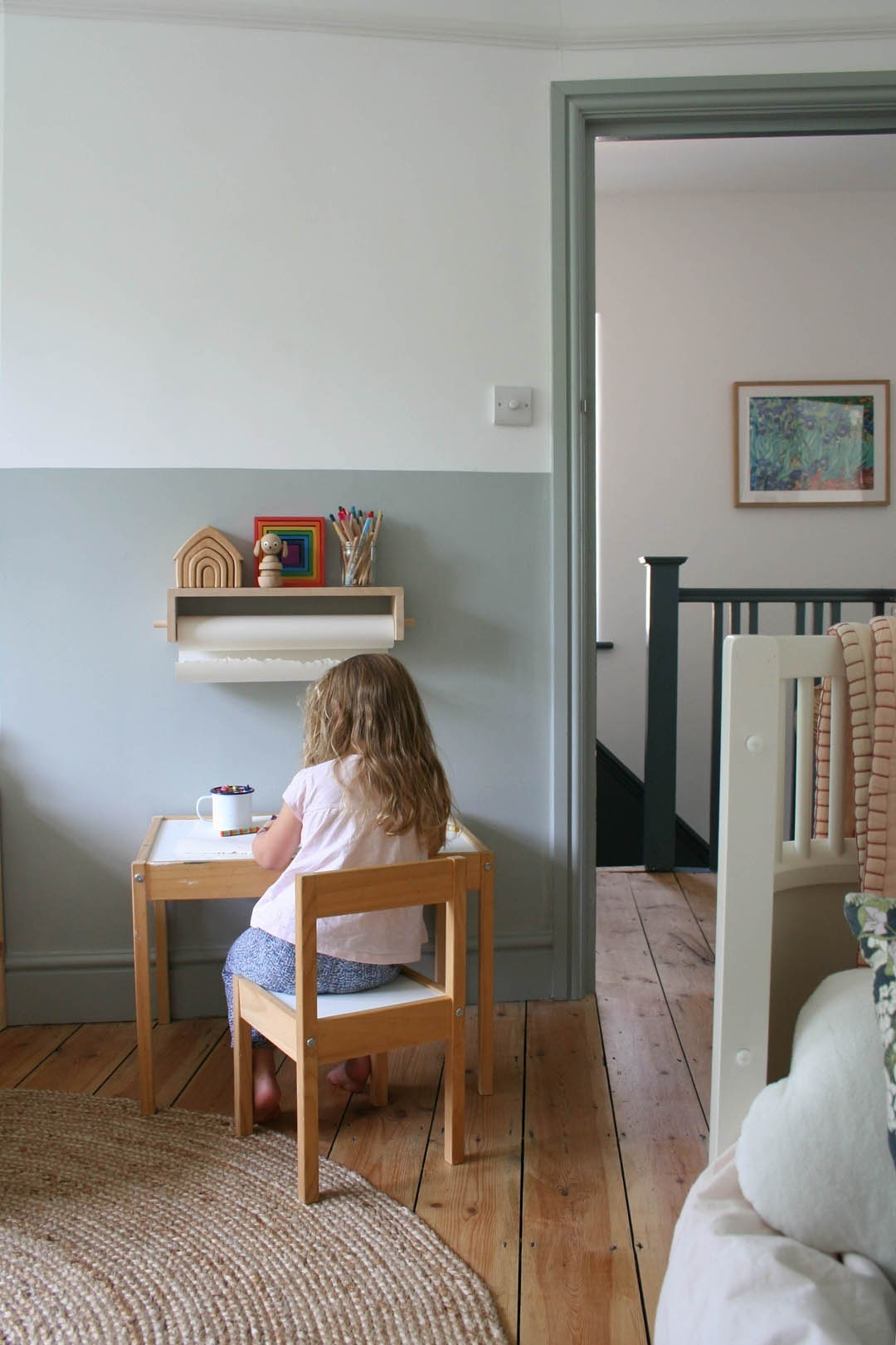 How To Do A Half Painted Wall For A Child'S Bedroom Farrow And Ball Light Blue Living Room