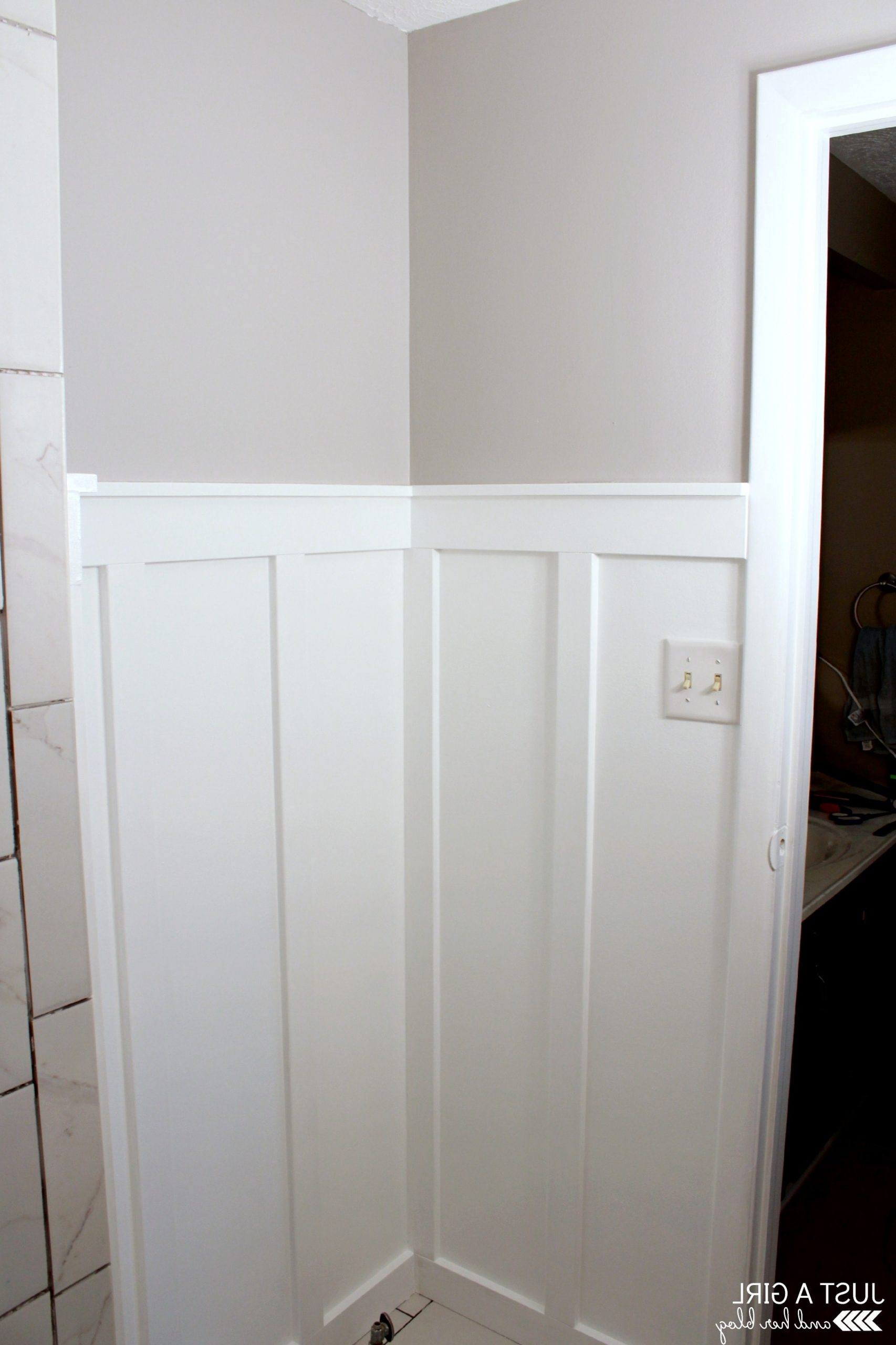 How To Install Board And Batten In A Small Space {Master Board And Batten Small Bathroom