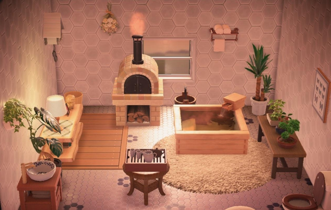 I Would'Ve Never Thought This Bathroom I Made Was From 20+ Acnl Bathroom Ideas