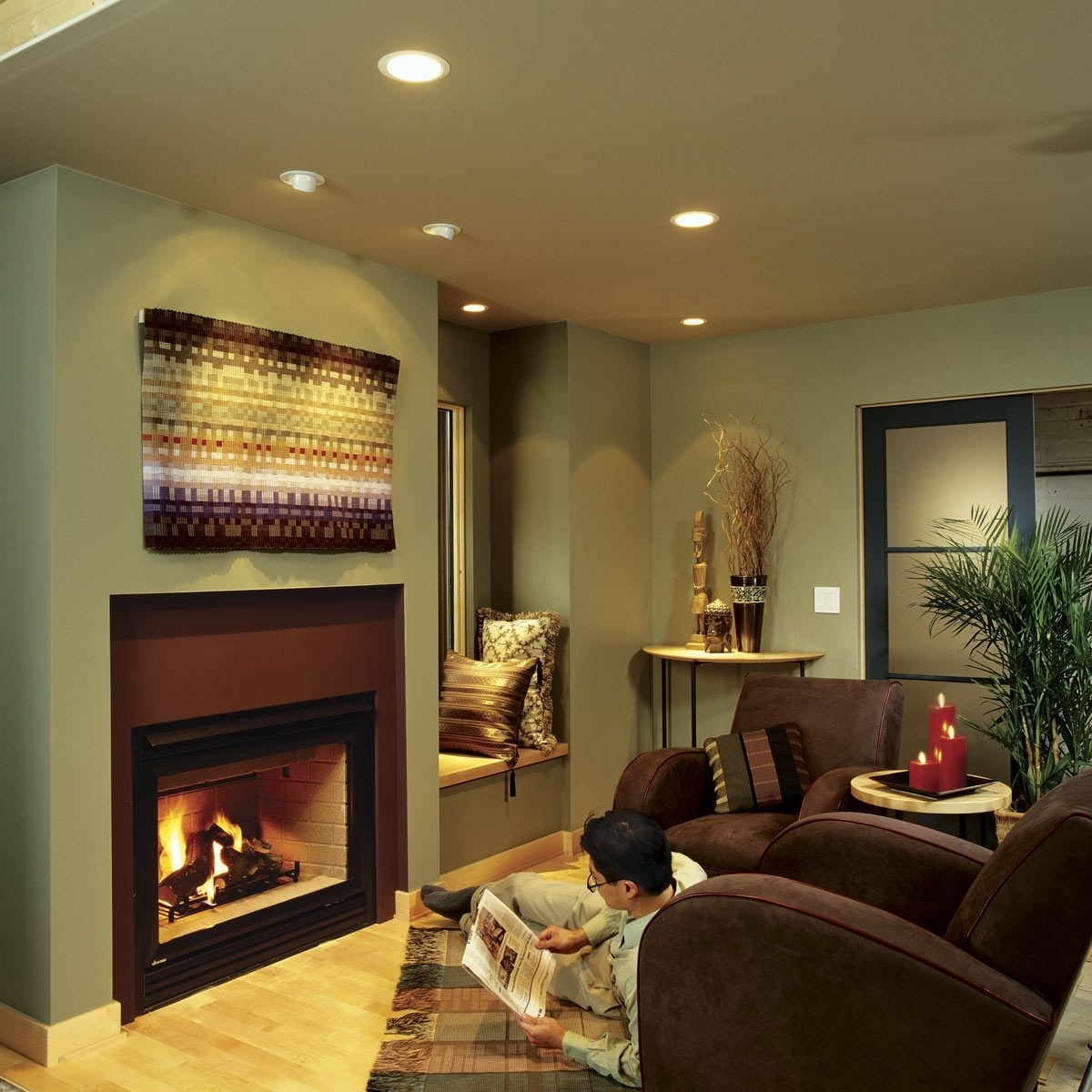 Installing Recessed Lighting For Dramatic Effect (Diy 40+ Soffit Lighting Living Room Ideas